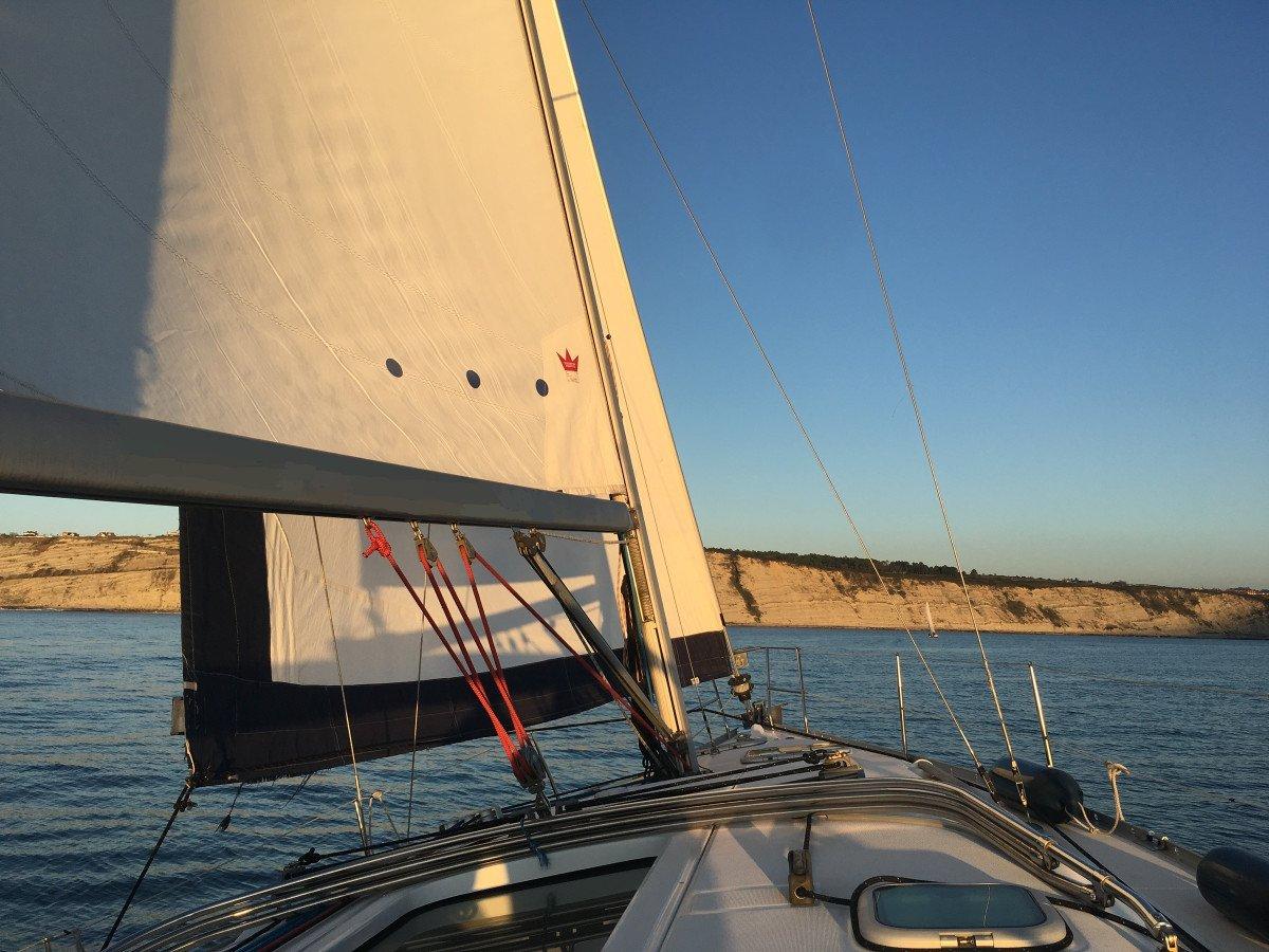 Puesta de sol en velero desde Getxo