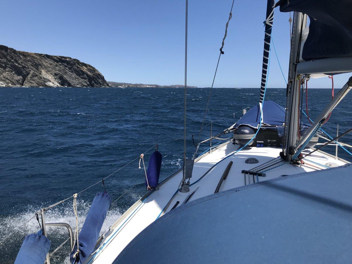 Navegación a vela en Cap de Creus