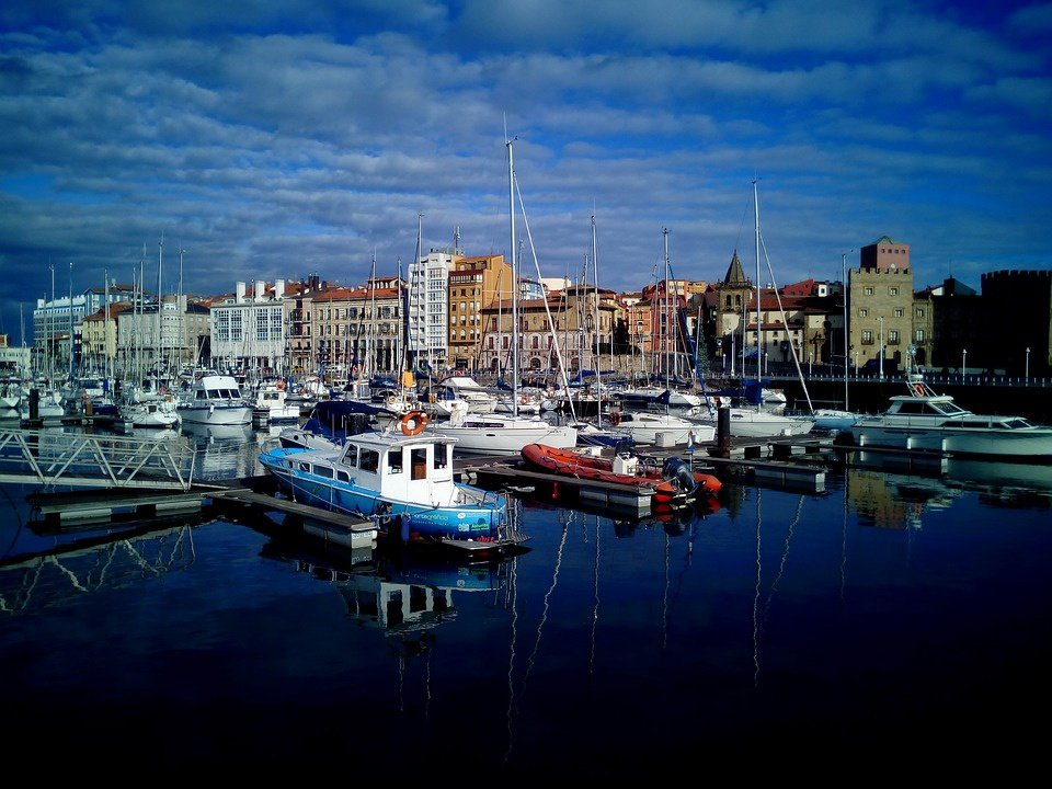 Festival Aéreo Gijón desde el mar