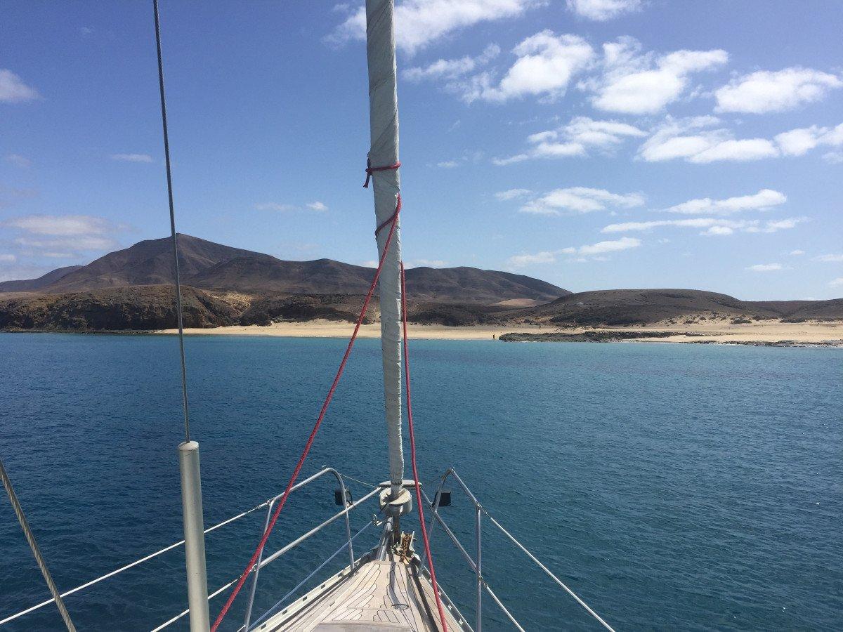 Travesía a vela por las Islas Canarias. Desde Lanzarote a Tenerife.