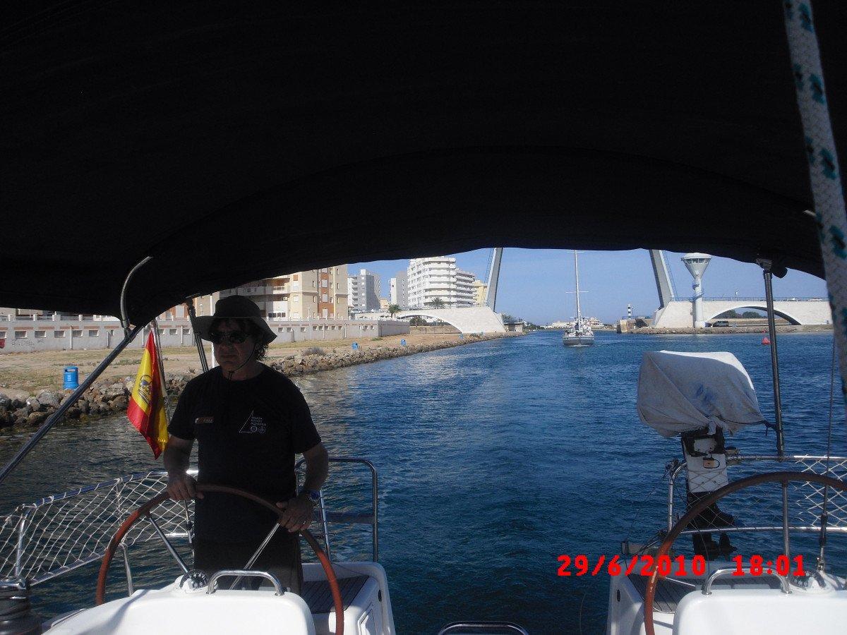 Travesía en velero Valencia-Sevilla por etapas