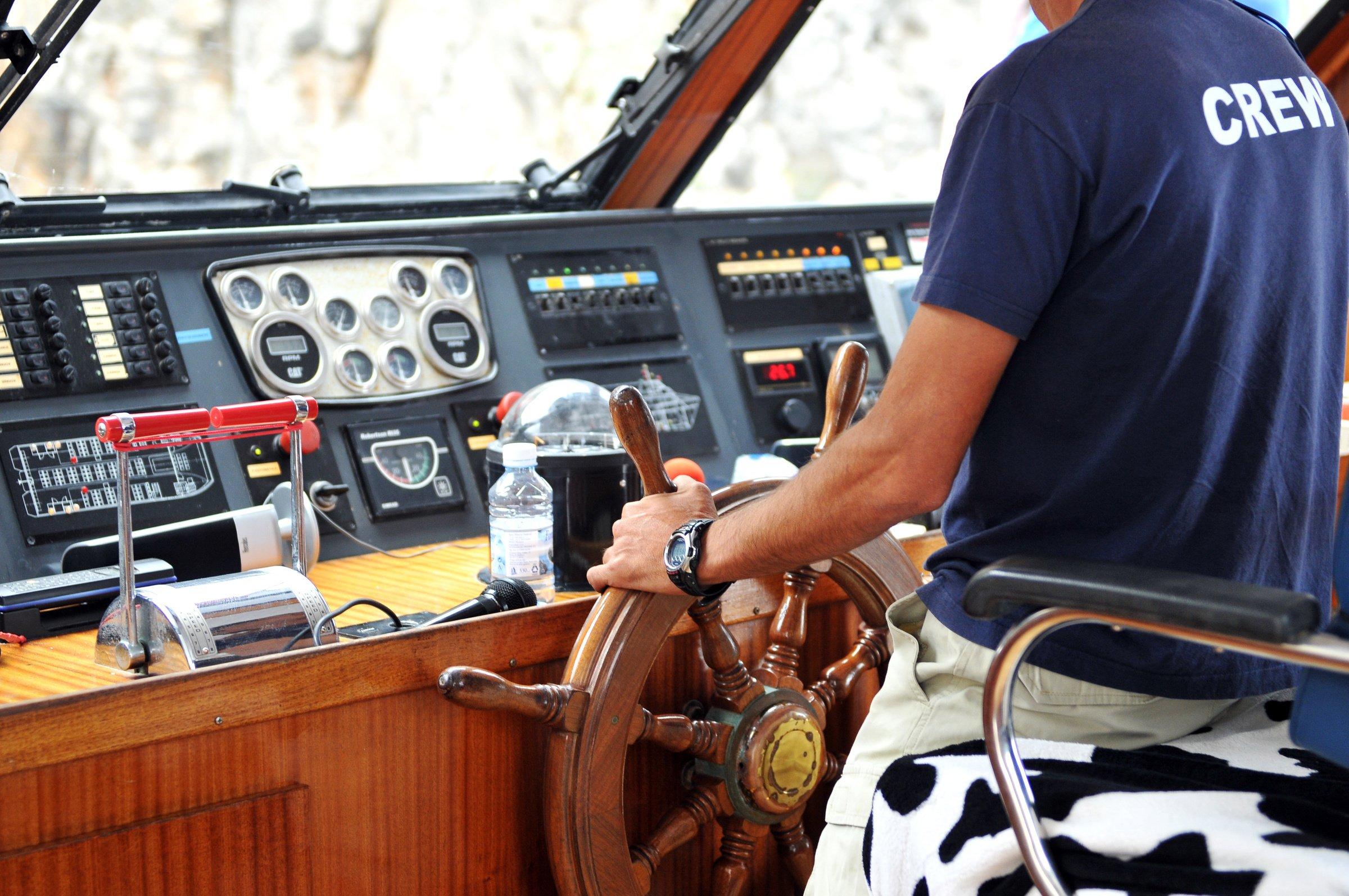 trabajar patron de barco