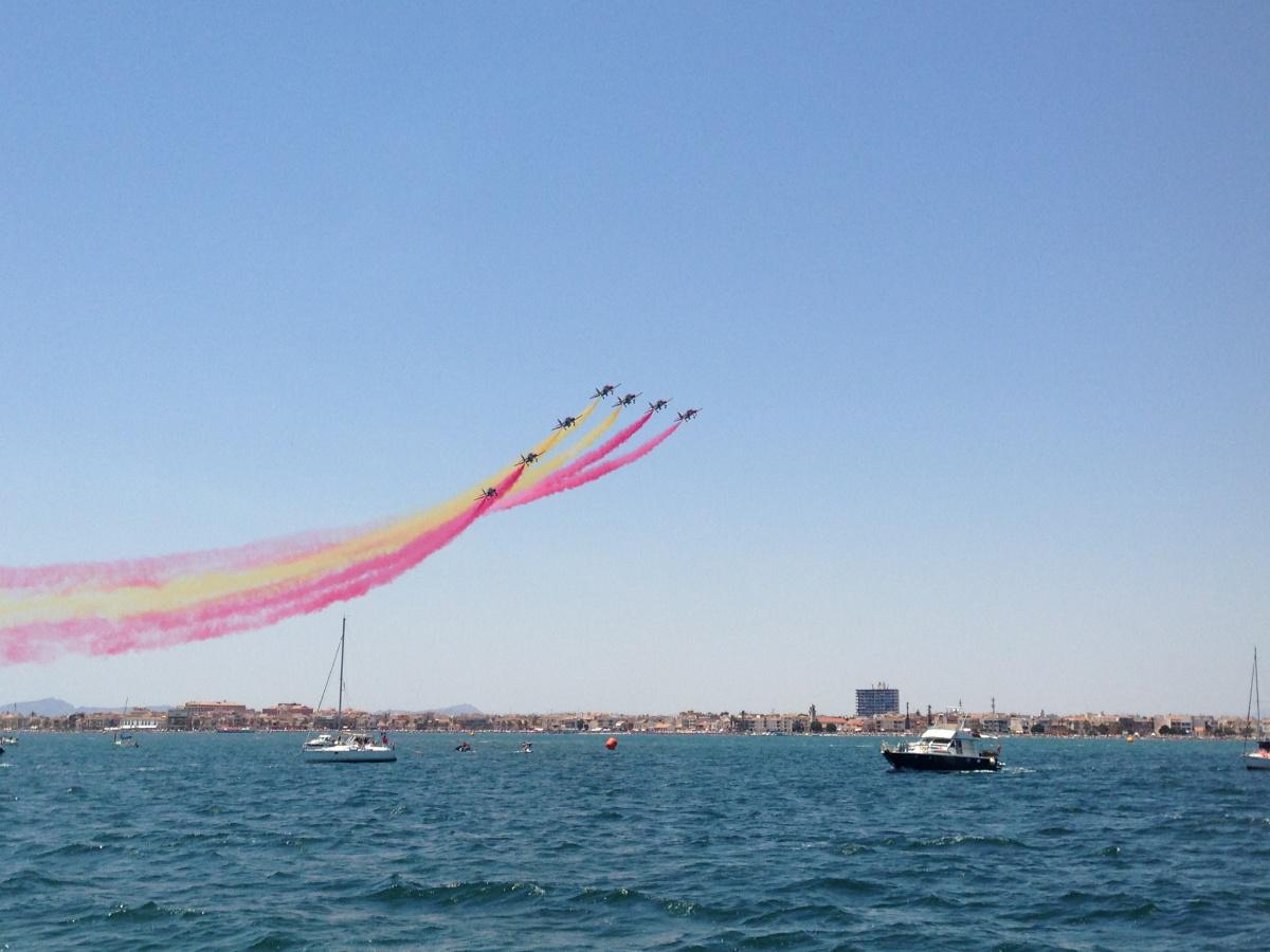 75° Aniversario de la ''Patrulla Águila'' en Mar Menor