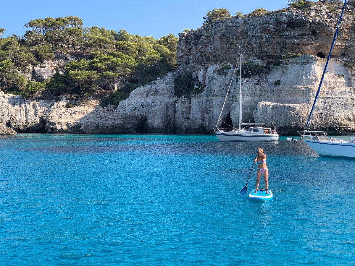 Una semana en un velero con patrón en Menorca