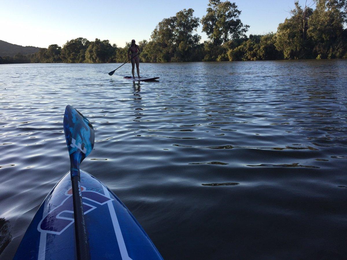 Travesía en catamarán desde Sotogrande con Paddle Surf por el río Guadairo