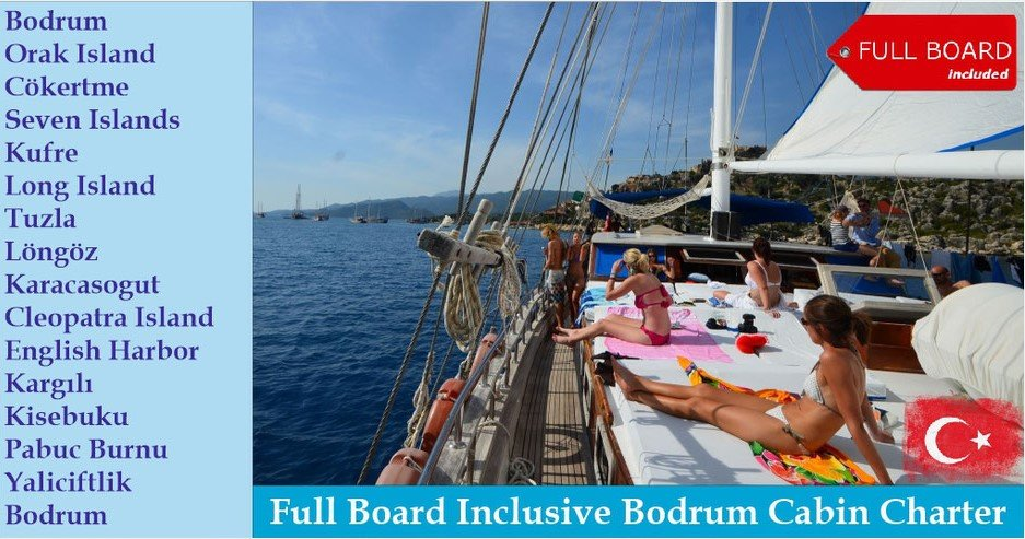 Gulet Holiday from Bodrum with Full Board Food Included