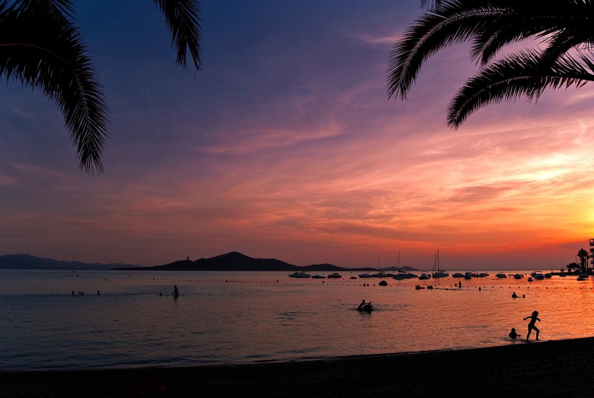 Sunset in the Mar Menor