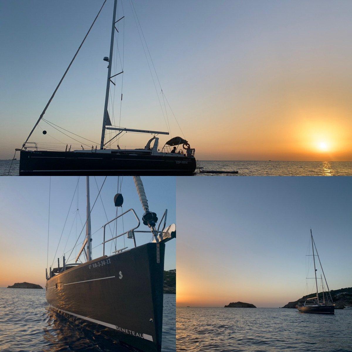 Navegación en velero por Columbretes e Ibiza
