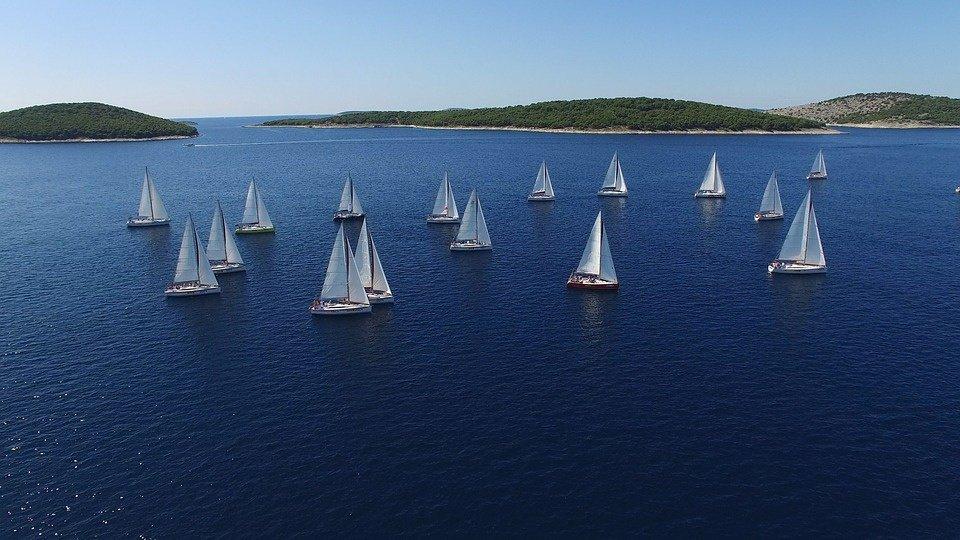 Compite como tripulante en regatas a vela